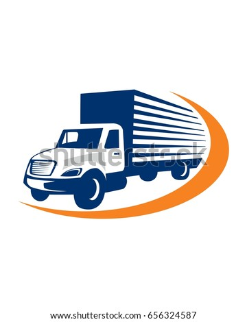 delivery truck logo vector stock vector 656324587 shutterstock rh shutterstock com truck logos for business truck logo art