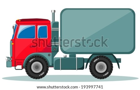 Delivery truck (lorry). Shipping concept.  - stock vector