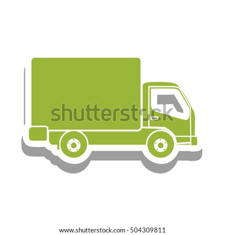 delivery truck pictogram icon image