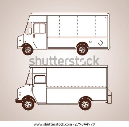 Delivery Trucks - stock vector