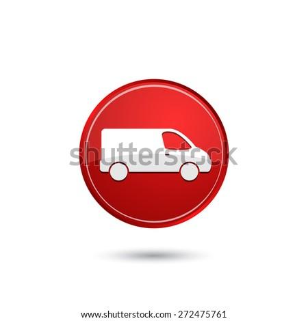 Delivery van icon - stock vector