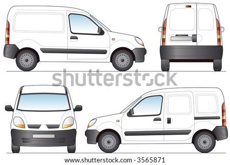 Delivery Van - Layout for presentation - Vector - stock vector
