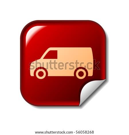 Delivery Van sticker - stock vector