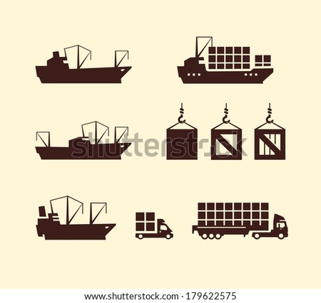 Delivery.Vector format - stock vector