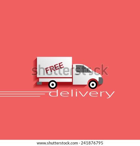 delivery vector icon - stock vector
