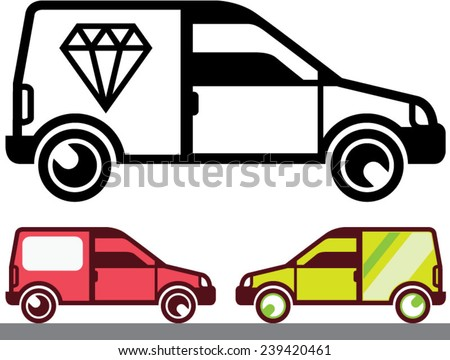 Delivery Vehicle vector - stock vector