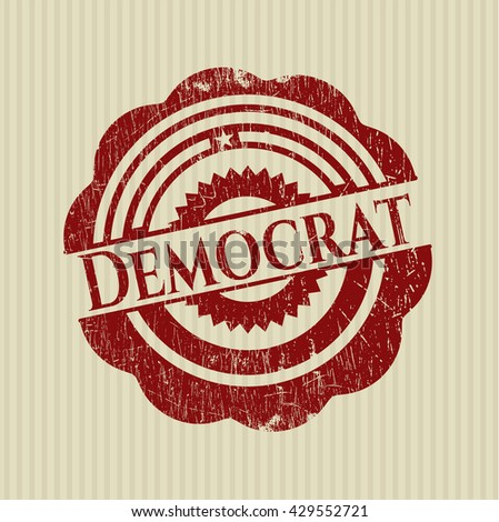 Democrat rubber grunge stamp - stock vector