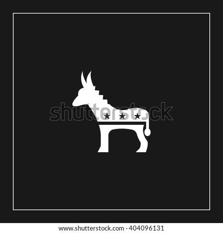 democrats donkey icon. democrats donkey vector illustration - stock vector