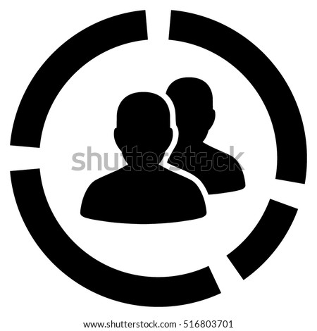 demography diagram glyph icon flat gray stock illustration. Black Bedroom Furniture Sets. Home Design Ideas