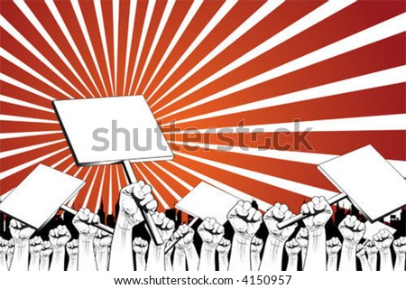 demonstration - stock vector