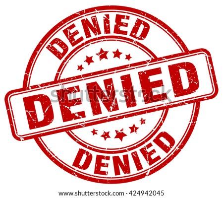 denied red grunge round vintage rubber stamp.denied stamp.denied round stamp.denied grunge stamp.denied.denied vintage stamp. - stock vector