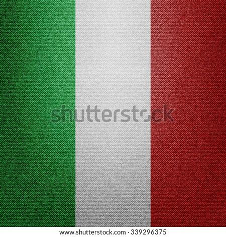Denim Italy flag - stock vector