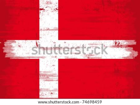 Denmark grunge flag A Denmark grunge flag with a texture - stock vector