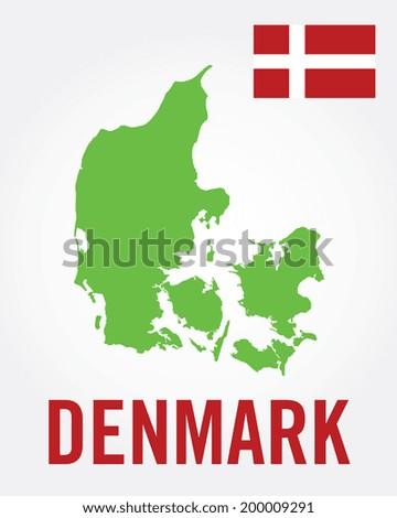 Denmark Map Set - Vector - stock vector