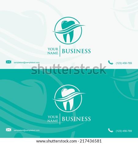 Dental Business Card Template Vector Illustration Stock Vector - Dentist business card template