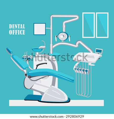 Dental care symbols. Dentist office illustration design background - stock vector
