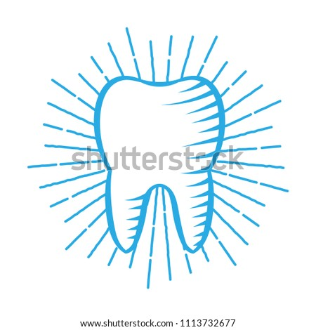 Dental Center Logo. Company Emblem Health Dent. Family Dental Clinic Label  With Tooth And