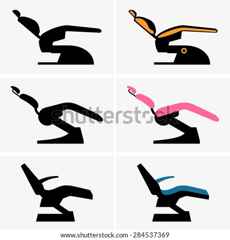 Dental chairs - stock vector