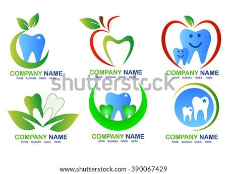 Dental Clinic Logo Stock Vector 372726343 - Shutterstock