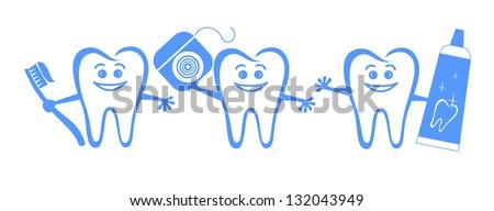 Dental elements - stock vector