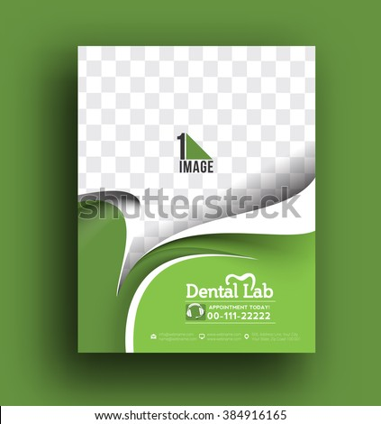 Dental Lab Front Flyer & Poster Template. - stock vector