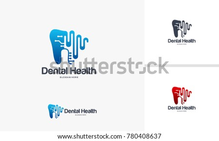 Dental Logo Designs Health Concept Vector