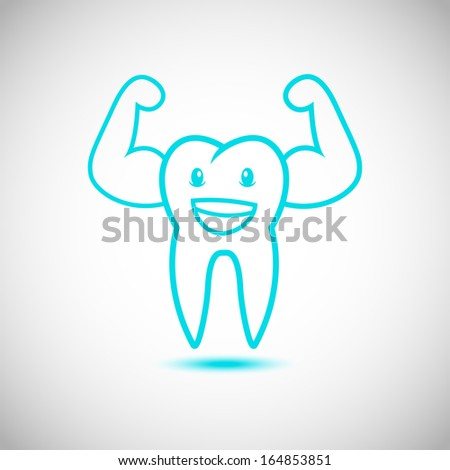 Dental Tooth Mascot Cartoon Character  - stock vector