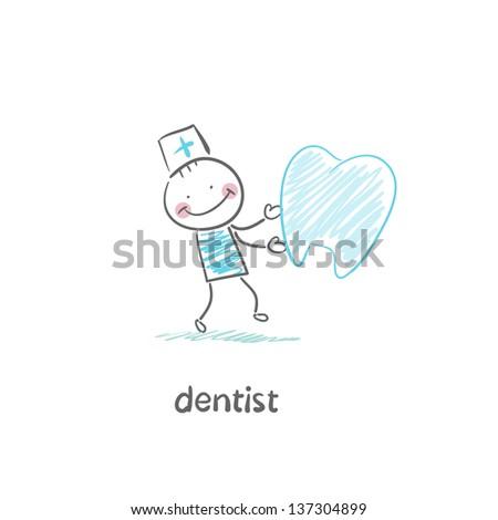 dentist - stock vector