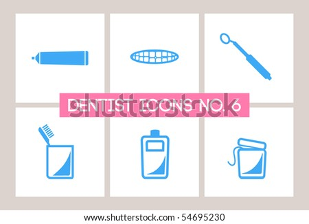 Dentist & Dental Icons #6 - stock vector