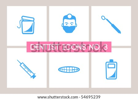 Dentist & Dental Icons #3 - stock vector