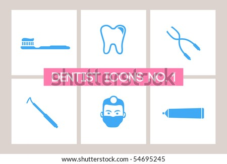 Dentist & Dental Icons #1 - stock vector