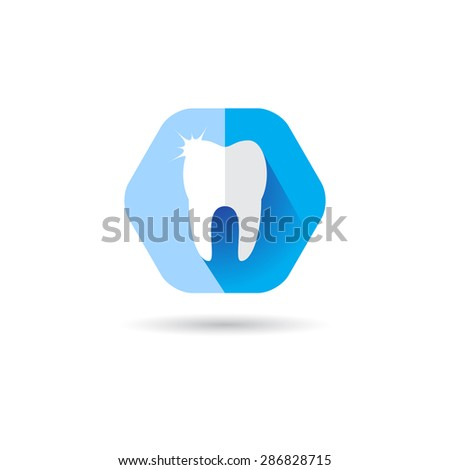 Dentist Logo tooth shape design vector template. Dental Clinic sign . Implant icon. - stock vector