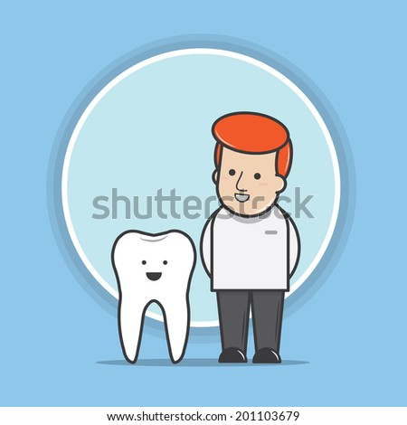 Dentist with a smile - vector  - stock vector