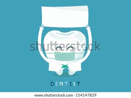 dentist write here - stock vector