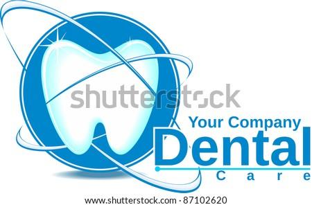 Dental Logo Vector Dental Icons Stock Vector