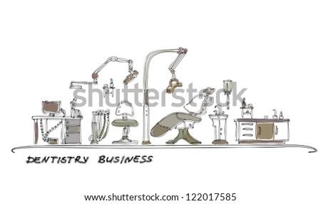 Dentistry room - stock vector
