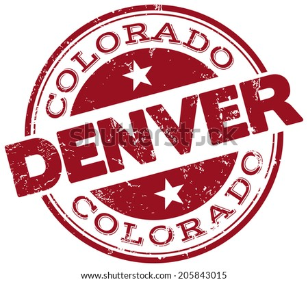 Denver Stamp Stock Vector