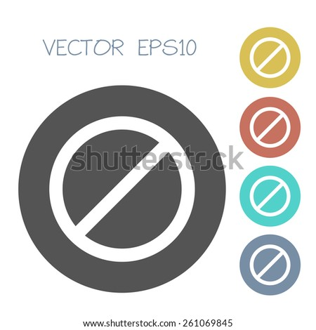 deny icon. flat. vector illustration - stock vector