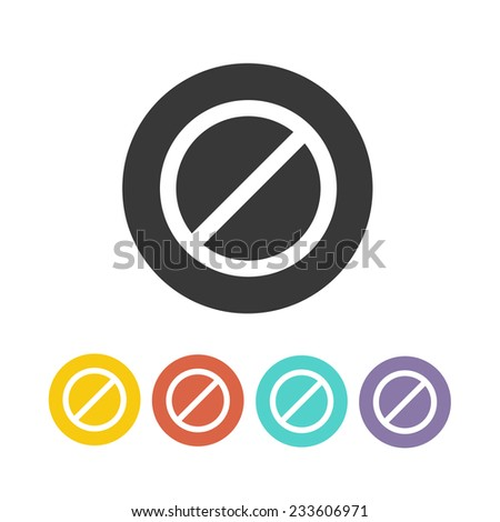 deny icon set. vector illustration - stock vector
