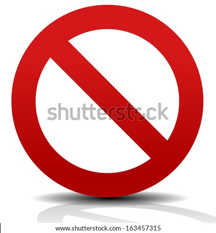Deny Sign with shadow - stock vector