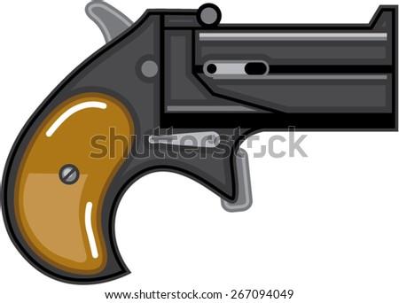 Derringer gun Vector  - stock vector