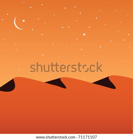desert - stock vector
