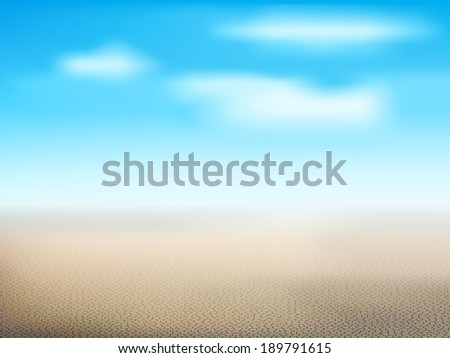 Desert landscape with dry land - stock vector