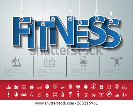 Design abstract infographic front .Vector/illustration.fitness icon.sport club. - stock vector