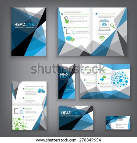 Design abstract vector brochure template flyer stock for A5 brochure template