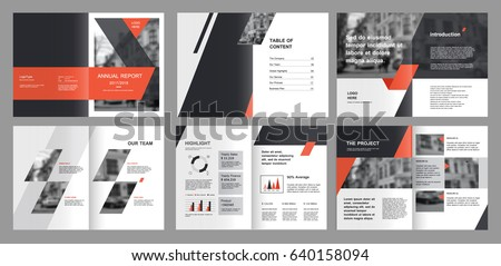 product design magazine design annual report cover vector template stock vector 10305