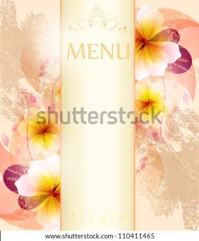 Design background of  flowers.vintage design template - stock vector