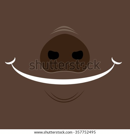 design background smile pig : illustration vevtor EPS10 - stock vector