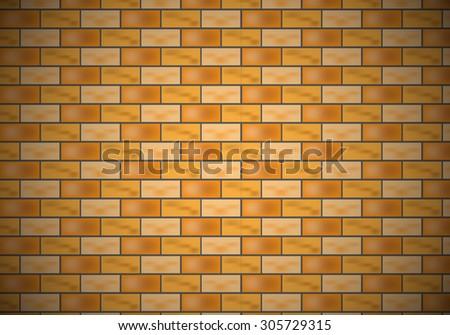 Design brick wall for vector - stock vector