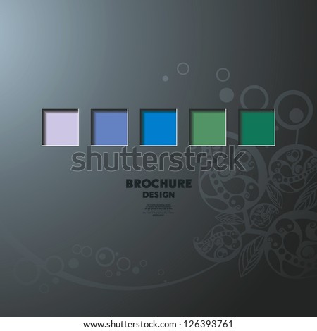 design brochure - stock vector